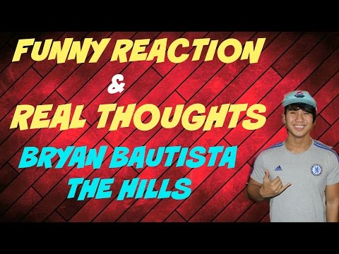 FUNNY REACTIONS & REAL THOUGHTS BRYAN BAUTISTA THE HILLS | THE VOICE BLIND AUDITION