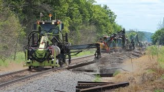 CSX Replacing Railroad Ties on the CE&D sub