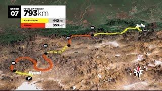 The route / El recorrido / Le parcours – Dakar 2016