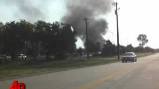 Raw Video: Texas Shooter Sets Truck on Fire