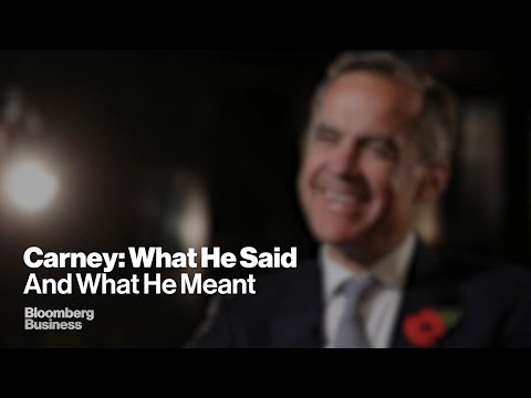 Bank of England Governor Mark Carney on Rates, The Fed and China