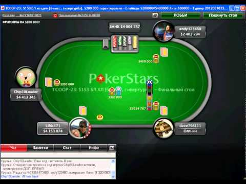 TCOOP 2012 - Event 23. FINAL TABLE