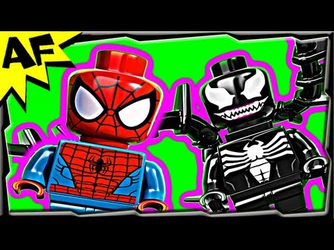 SPIDER-CYCLE CHASE - Lego SpiderMan Set 76004 Animated Building Review