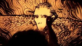 Tribute to Vincent Van Gogh - Sand animation di Paola Saracini