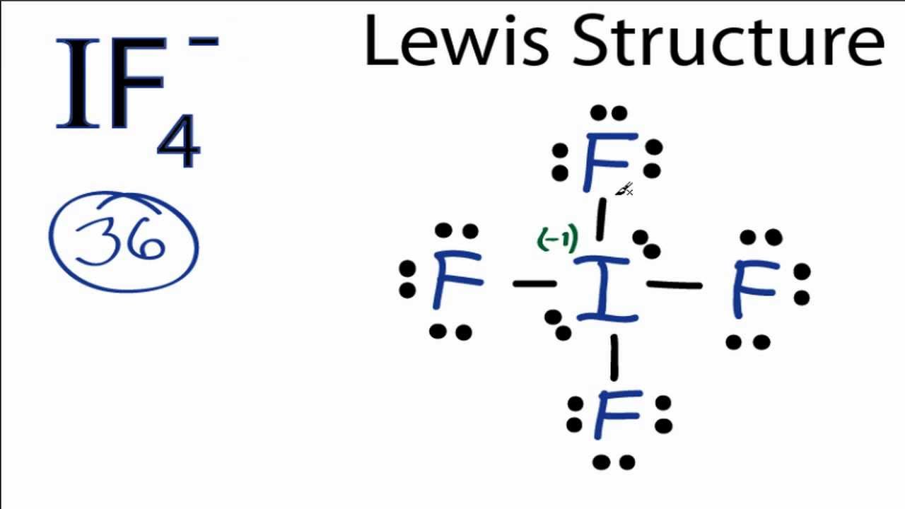 Selenium Tetrabromide Lewis Structure IF4- Lewis Structure How to