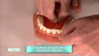 How to Floss Teeth Properly⎢Martha Stewart