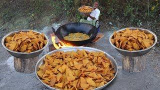 Nacho Chips Snacks Recipe | Nachos Corn Tortilla Chips | Makki ke Chips by Grandpa