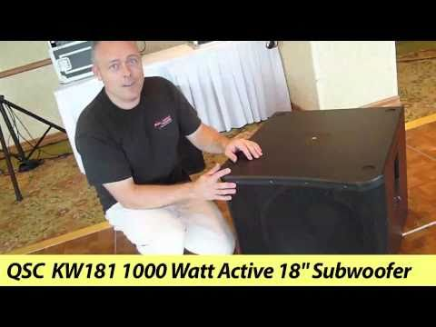 QSC KW181 1000-Watt 18 Subwoofer Overview