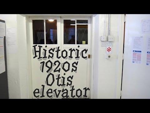 Historic 1920s Otis elevator @ Syncom Electronics Roanoke VA  Manually Controlled