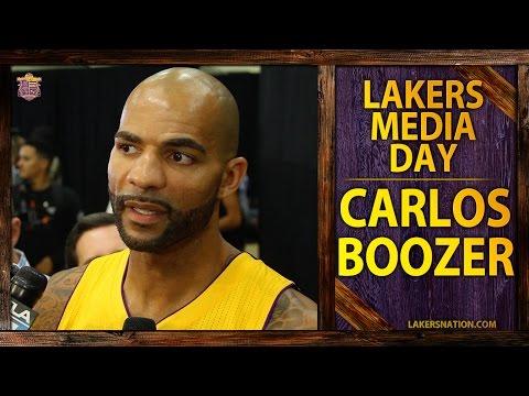 Lakers Media Day 2014: Carlos Boozer Talks Relationship With Kobe Bryant