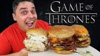 Os Sanduíches Gigantes do Game of Thrones - NIGHT KING, VISERION E JON SNOW