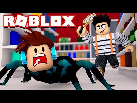 Roblox - VIREI UMA ARANHA !! ( Roblox Pet Shop Escape )