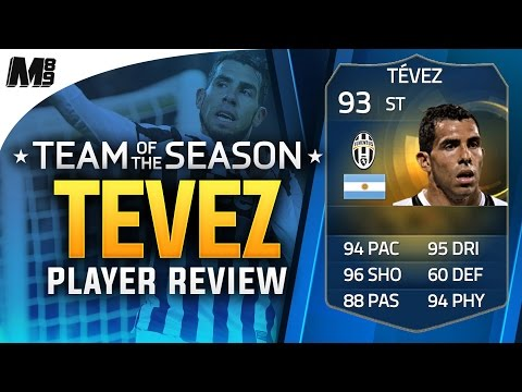 FIFA 15 TOTS TEVEZ REVIEW (93) FIFA 15 Ultimate Team Player Review + In Game Stats