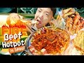 FIRE Beef Hotpot & BEST SPICY FRIED CHICKEN in Seoul South Ko...