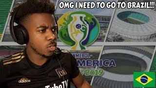 ESTADIOS DE COPA AMÉRICA BRASIL 2019 CONMEBOL   Reação