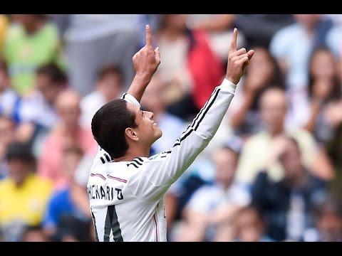 Los 9 goles de Javier Hernández 'Chicharito' con el Real Madrid.