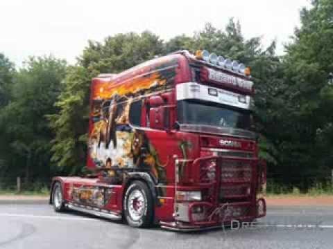 Scania Longline V8 Roland Graf Airbrush Truck Loud Pipe