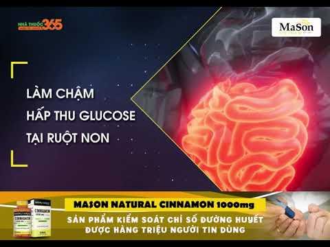 Mason Natural Cinnamon 1000mg – Sản phẩm kiểm soát chỉ số đường huyết được hàng triệu người tin dùng
