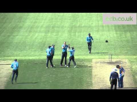 Stuart Broad clean bowls Daniel Magin - England v ACT XI highlights