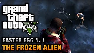 GTA 5 - Easter Egg #1 - Frozen Alien and Secret Map