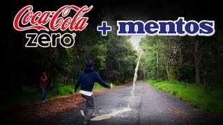 Reto Polinesio con Mentos | Coca Cola Light Zero and Mentos Diet Coke