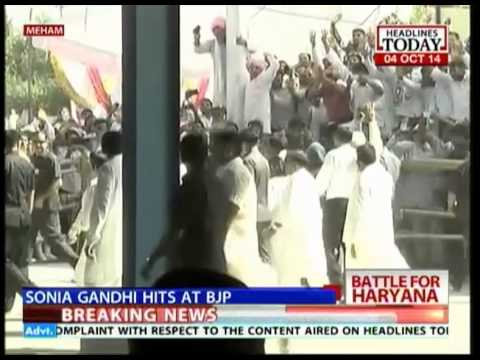 Battle for Haryana: Sonia Gandhi hits out at BJP during rally in Maham