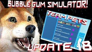 "Bubble Gum Sumilator Team Pets update18!?🐺save % off perks!?🦊!""🐾🐕read description!🐕🐾"""