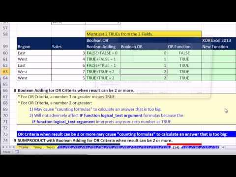 Ctrl + Shift + Enter: Excel Array Formulas 14: Boolean Logic, AND & OR criteria, Convert TRUE FALSE