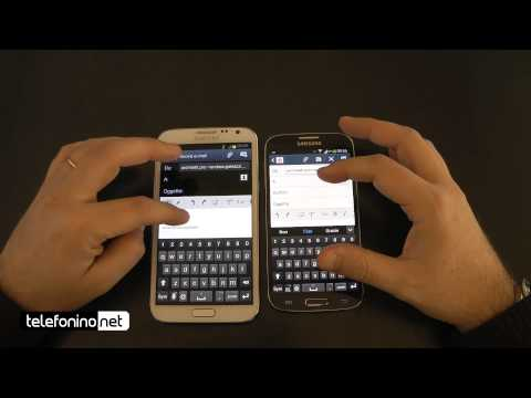 Samsung Galaxy S4 vs. Galaxy Note 2 da Telefonino.net