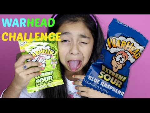 WARHEAD CHALLENGE EXTREME SOUR CANDY  B2cutecupcakes