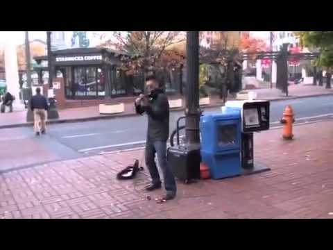 Violin Street Musician Epic Performance