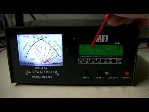 MFJ-828 Digital SWR Watt Frequency Counter HF / CB Meter Overview