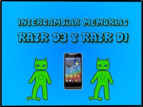 Intercambiar memoria externa por interna en Motorola Razr D3 Y Razr D1