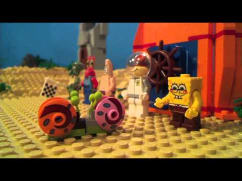 Lego Spongebob Snail Race video