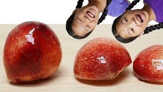 Mukbang Peach Thanghulu 복숭아 탕후루 양갈비 TwinRoozi 쌍둥이루지 먹방
