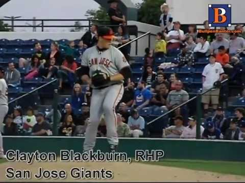 CLAYTON BLACKBURN, RHP, SAN JOSE GIANTS, PITCHING MECHANICS AT 200 FPS