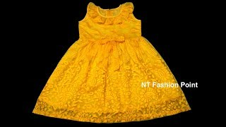 How to Learn Simple Summer Baby Girls Dress Designs | Simple Baby Dress Cutting and Stitching