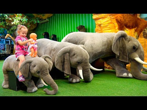 Funny Play Area with toy dinosaurs for children thumbnail