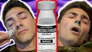 HILARIOUS SNEEZING POWDER PRANK