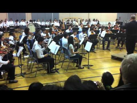 Julius West Middle School Festival Orchestra - Ding Dong Merrily on High