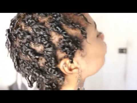 Short natural hair: Two strand twist protective style
