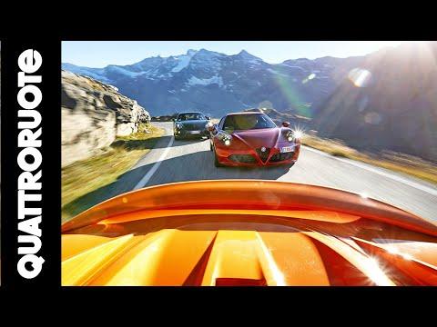 Alfa 4C vs Lotus Elise S vs Porsche Cayman - La sfida di Quattroruote