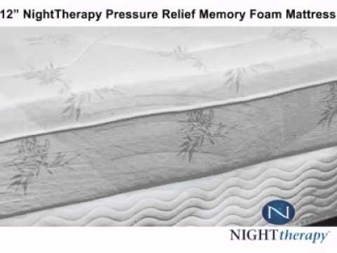 night therapy 12 night therapy pressure relief memory. Black Bedroom Furniture Sets. Home Design Ideas