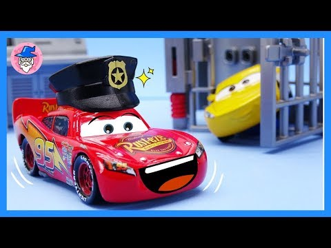 Disney cars toys, became a police man! rescue car toys mission