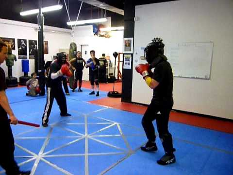 Kickboxing sparring match Image 1