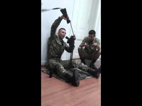 G3 Piyade Tüfegi Sök-Tak 36 Sn...NATO K.K.K.`dan Piyade Onbaşı Mustafa.  (ANKARA)