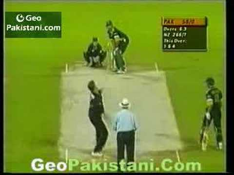Shahid Afridi vs New Zealand 27 runs in one over