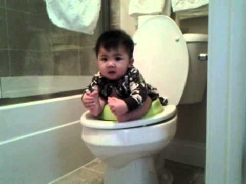 Baby Pooping In Toilet  Infant Potty Training