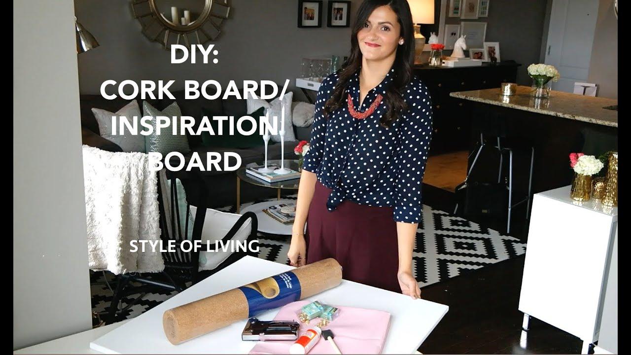 Diy cork board inspiration board youtube for Cork board inspiration