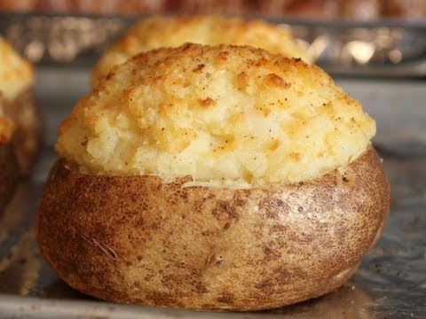 Twice Baked Potatoes -- How to Make Fancy Stuffed Potatoes